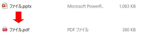 PPT・PPTX(パワーポイント)ファイルをPDFに変換