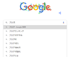 Googleで表示されるサジェスト