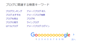 Google関連する検索キーワード
