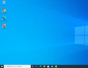 作成したユーザー用のデスクトップ画面が表示されます